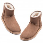 UREVO Casual Wool Boots Brown 39