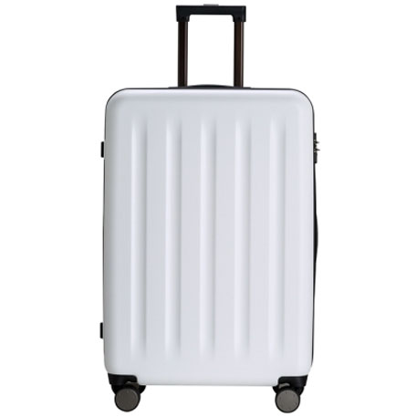 "RunMi 90 Points Trolley Suitcase 28"" White Moon Light"