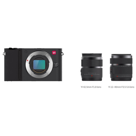 Yi M1 Mirrorless Digital Camera Dual Lens Chinese Version Black